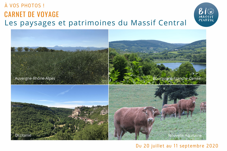 """Opération """"Carnet de voyage : les paysages et patrimoines du Massif Central !"""""""