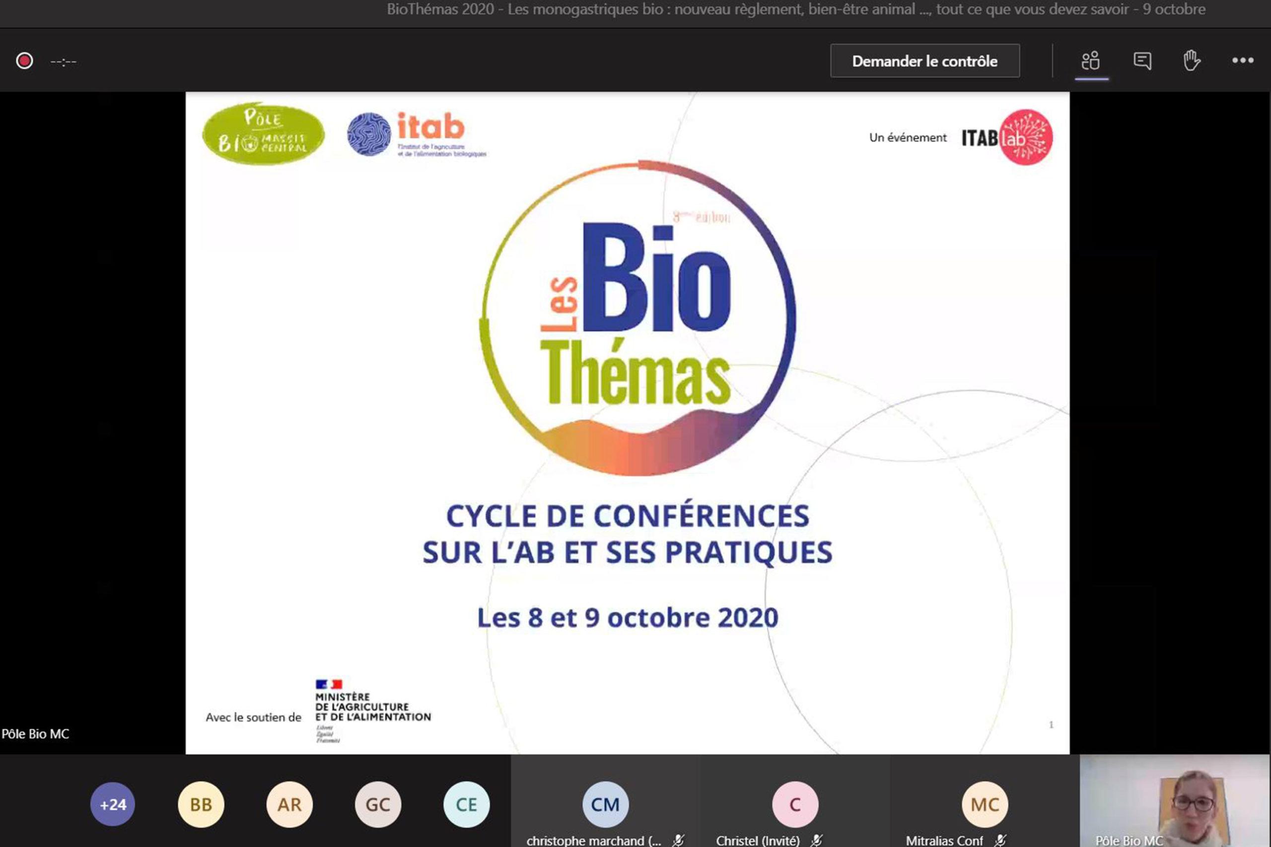 Plus de 100 participants pour la 8ème édition des BioThémas